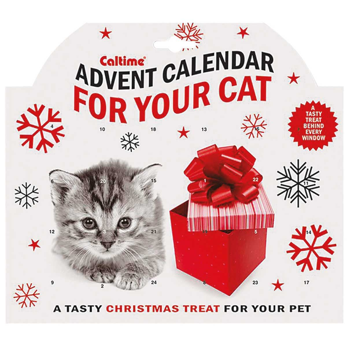 Cat Advent Calendar An edible treat for your cat behind