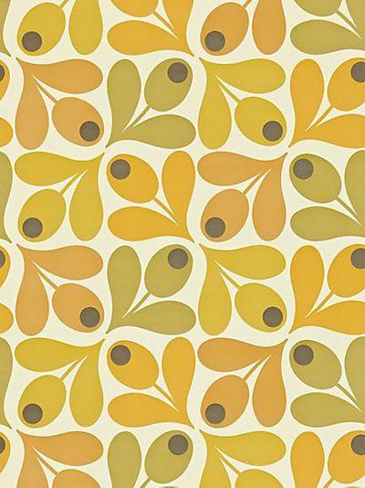 Orla Kiely House For Harlequin Acorn Spot Wallpaper