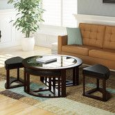 Found it at Wayfair - Belgrove Coffee Table with 4 Stools
