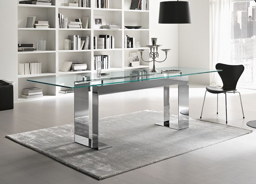 10 Marvelous Modern Glass Dining Tables To Inspire You Today Modern Dining Tables Modern Glass Dining Table Chrome Dining Table Modern Dining Table