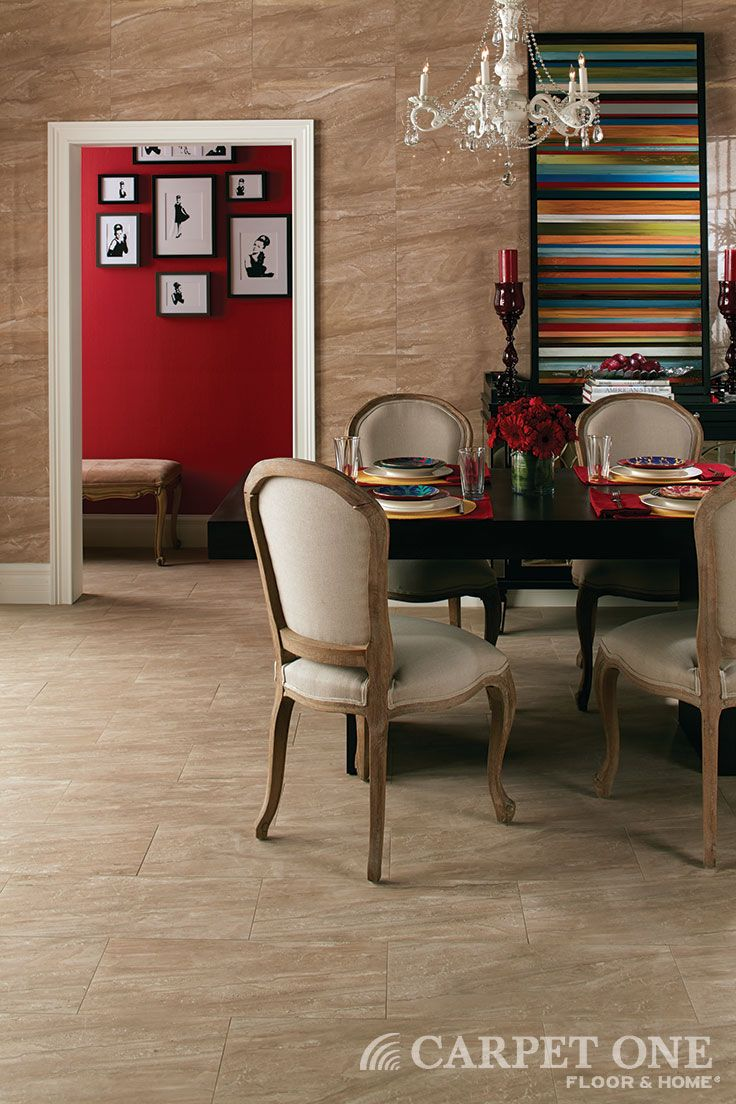 Tile is great for a dining space. Food spills and stains