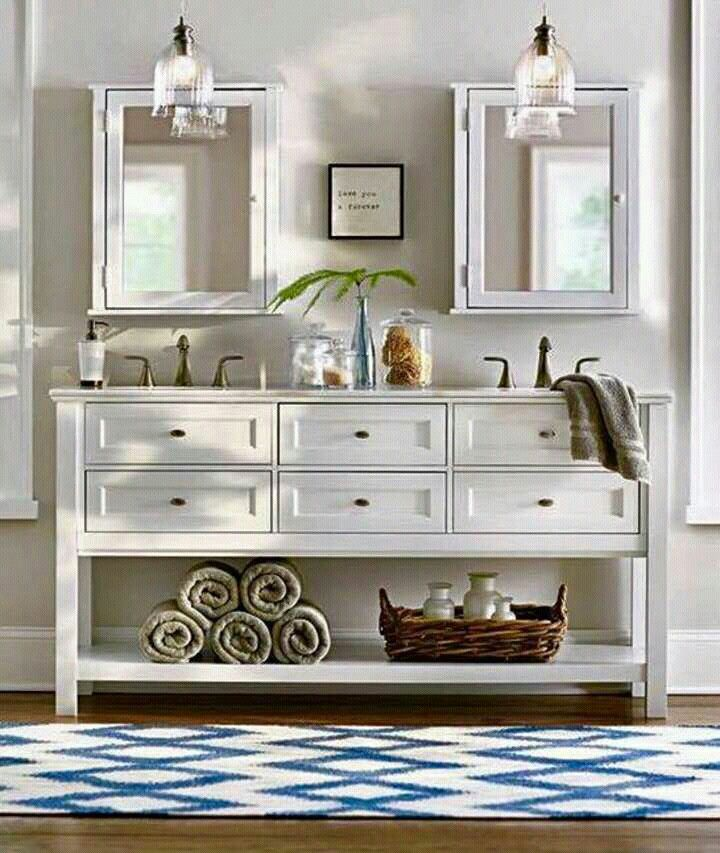 Pin de Miriam en Deco | Decorar baños, Baño tocador doble ...
