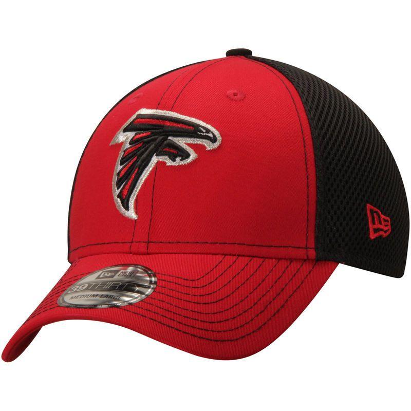 Atlanta Falcons New Era Team Front Neo 39THIRTY Flex Hat - Red Black ... 9343f6b2f
