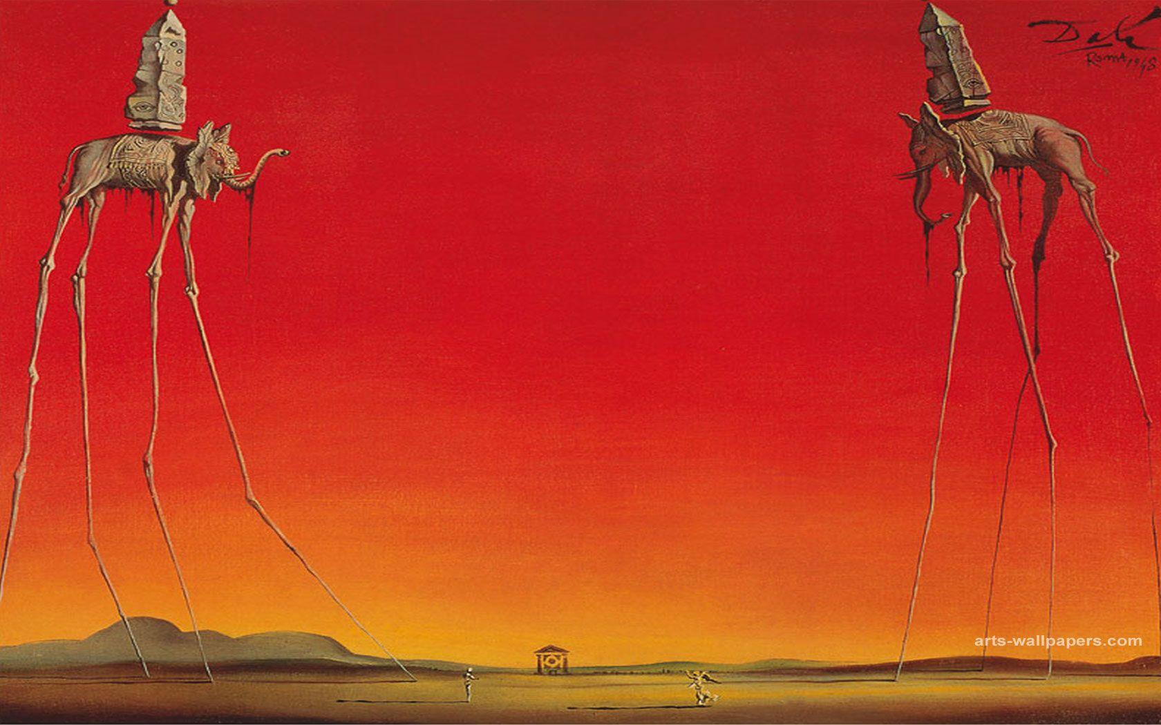The Elephants By Salvador Dali