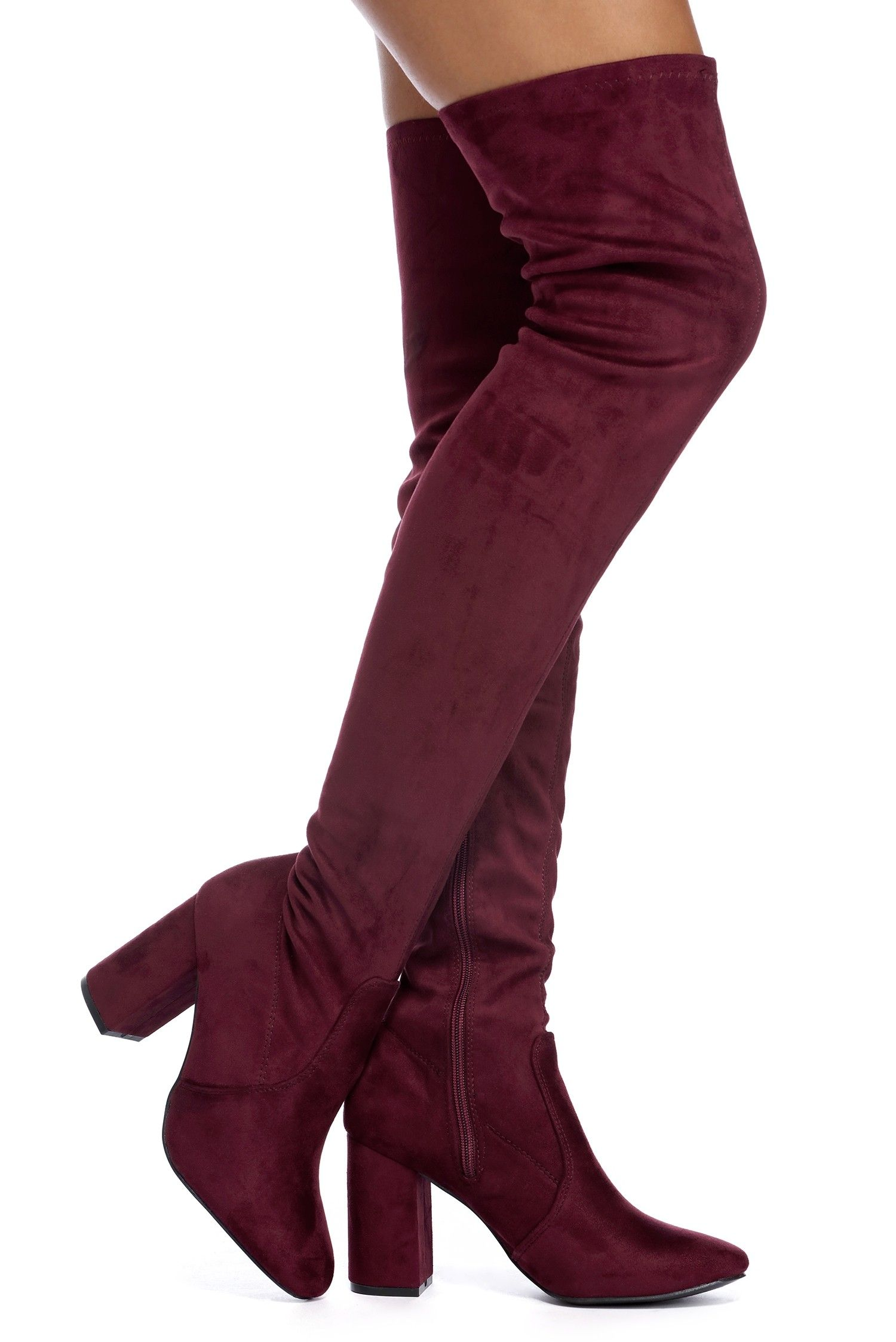 04e6b67027 Windsor Burgundy Suede In Love Boots