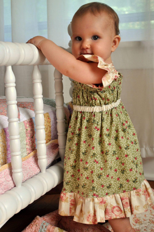 Big Sister Ruffle Dress Baby Toddler Girls Beginner Easy Etsy Baby Dress Toddler Girl Childrens Clothes