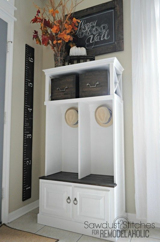 Turn A Small Media Cabinet Into An Organized Mudroom