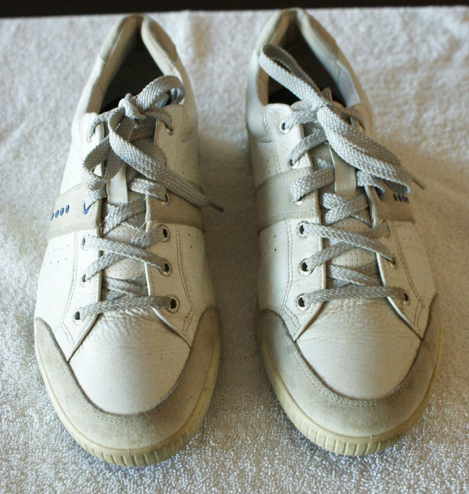 ECCO Golf Shoes Street White Size 44 Fits U.S. Size 10 1/2