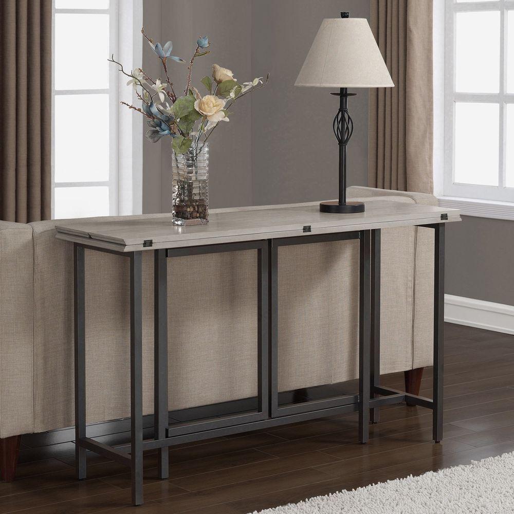 Convertible wood dining table grey convertible