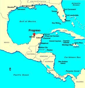 Progreso Mexico Map progreso yucatan mexico cruise port map | Progreso / Merida  Progreso Mexico Map