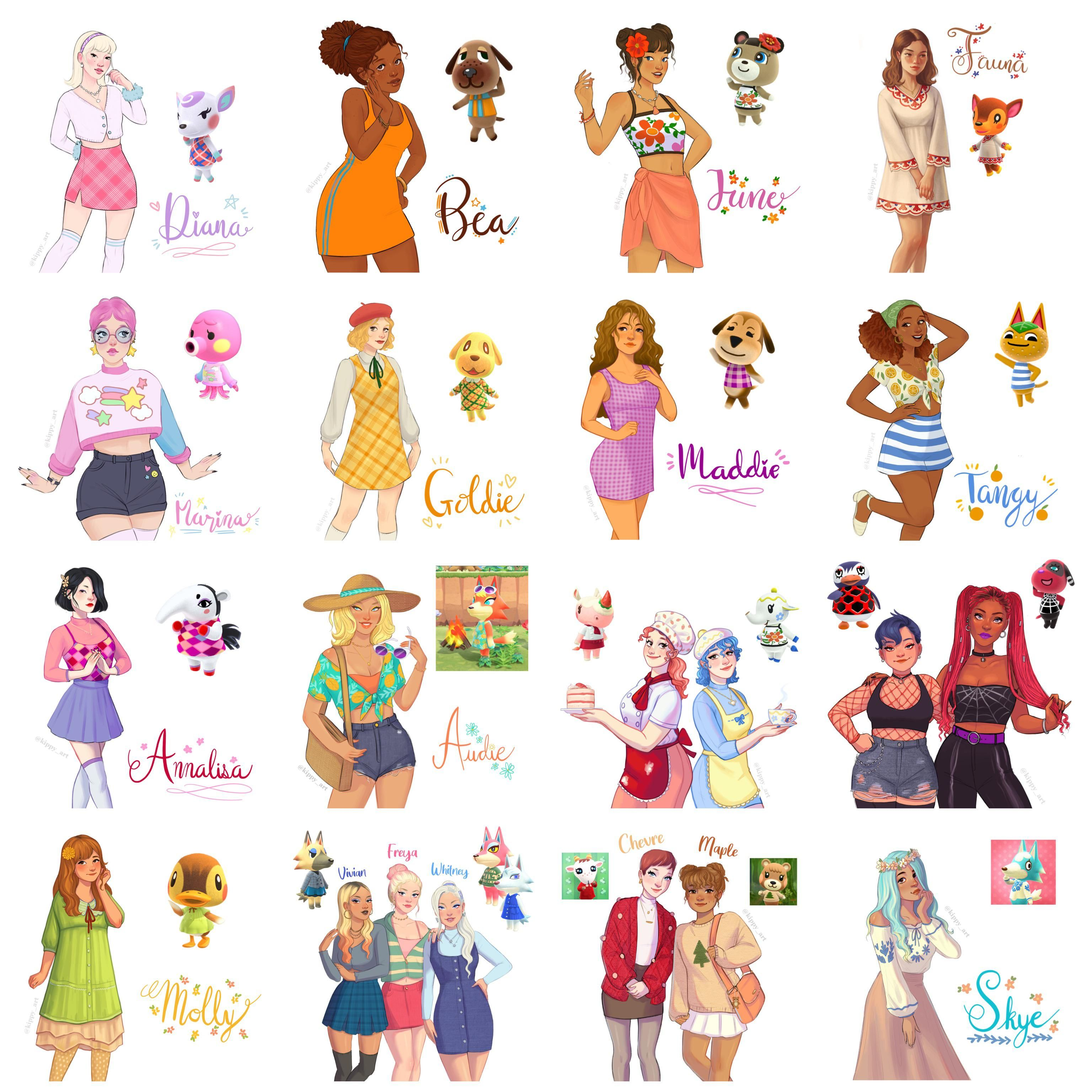 Animal Crossing villagers as humans in 2020   Animal ...