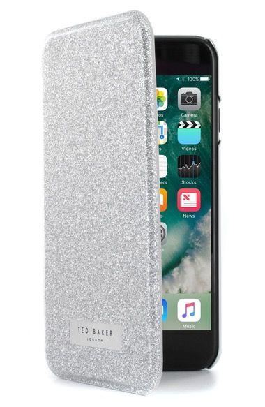 eb909479dc9616 TED BAKER Glitsie Iphone 6 6S 7 Mirror Folio Case.  tedbaker