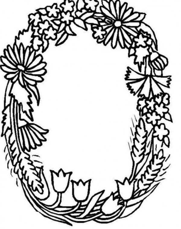 Alphabet Flowers, Alphabet Flowers Letter O Coloring Pages