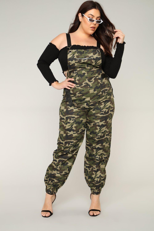 932ad0c43e3 Parachute Landing Jumpsuit - Green Camo Dolly Fashion