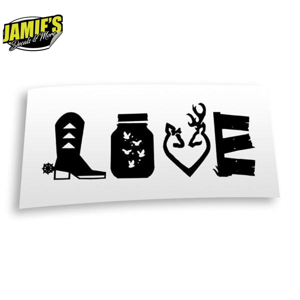 Download Country Love Decal - Four Sizes - Color Options | Yeti ...