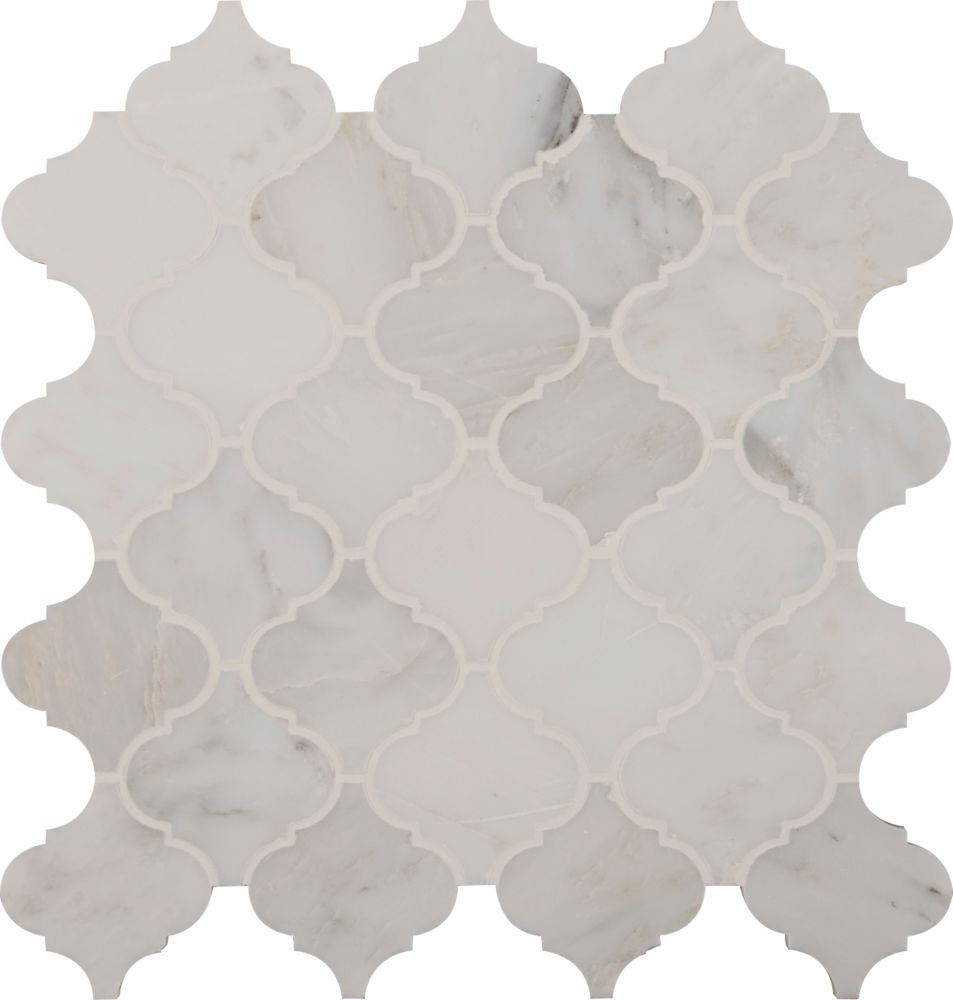 Home Depot $21/Sq\' Greecian White Arabesque 12 in x 12 in x 10 mm ...