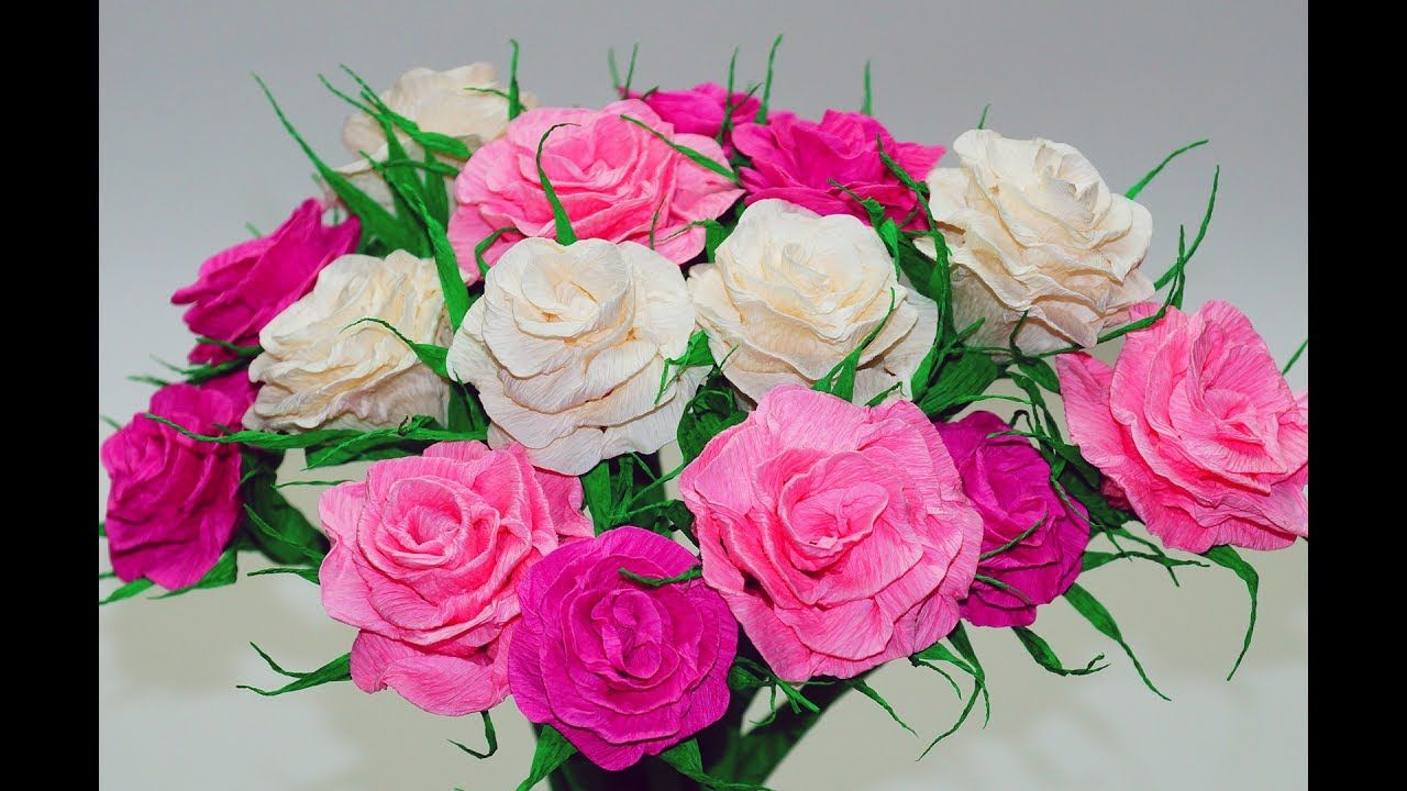 Paper Rose Flower Making Easy How To Make Crepe Paper Rose Diy