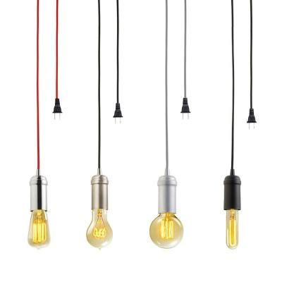 Globe Electric 1 Light Vintage Edison Matte Black Plug In Mini Pendant 60844 Pendant Light Fixtures Hanging Ceiling Lights Pendant Lighting