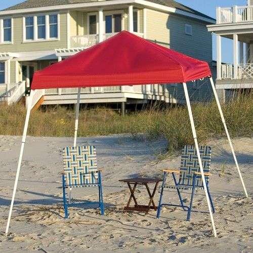 8u0027 x 8u0027 red slant leg sport canopy provides portable shade and