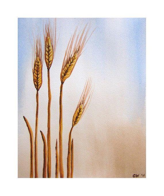 Harvest original watercolor on paper