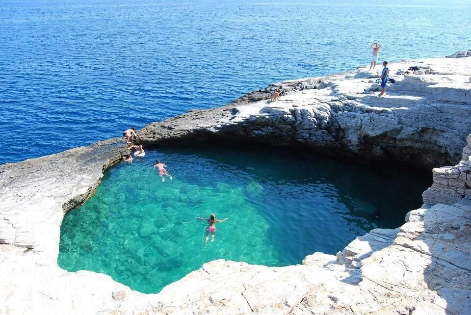 Amazing natural pool in Thassos, Greece