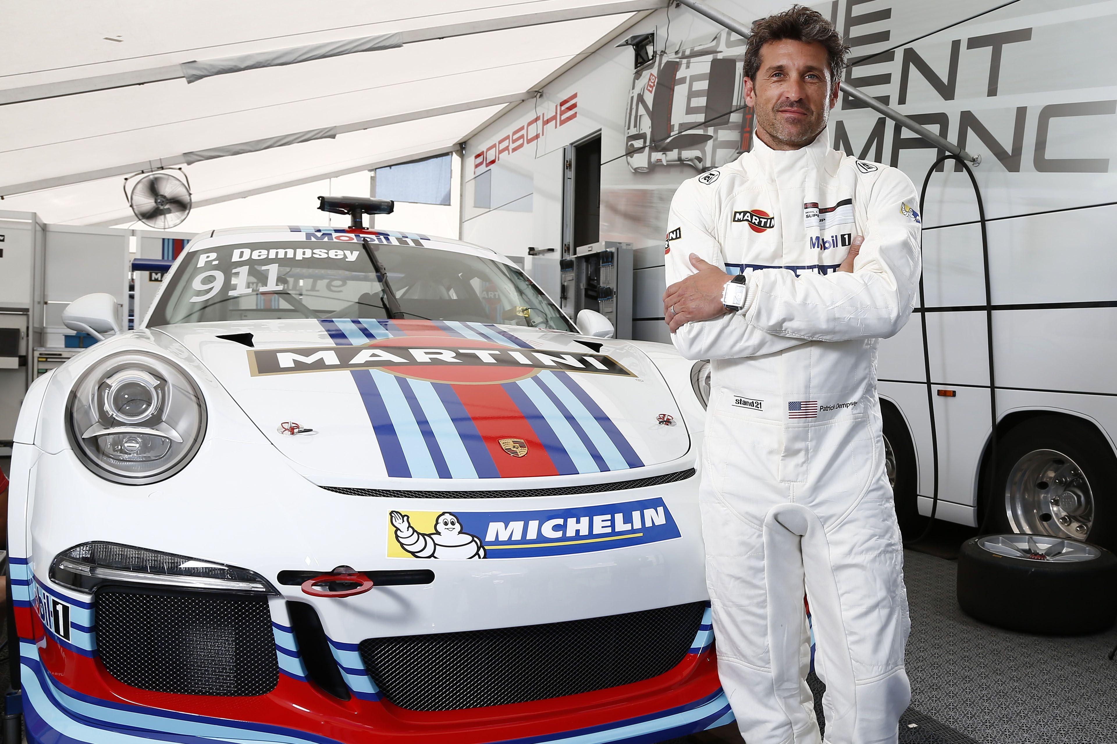 Patrick Dempsey Races For Martini In The Porsche Mobil 1 Supercup