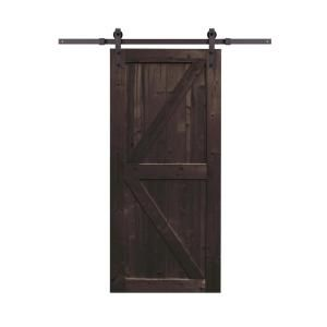 Northbeam 36 In X 84 In Spruce Wood Distressed Smoke Sliding Barn Door With Hardware Kit Cov0311911810 Sliding Door Hardware Interior Barn Doors Barn Style Sliding Doors