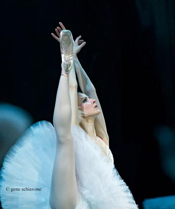 "Olga Esina in ""Swan Lake"" as a guest artist with Mariinsky Ballet, photo by Gene Schiavone."