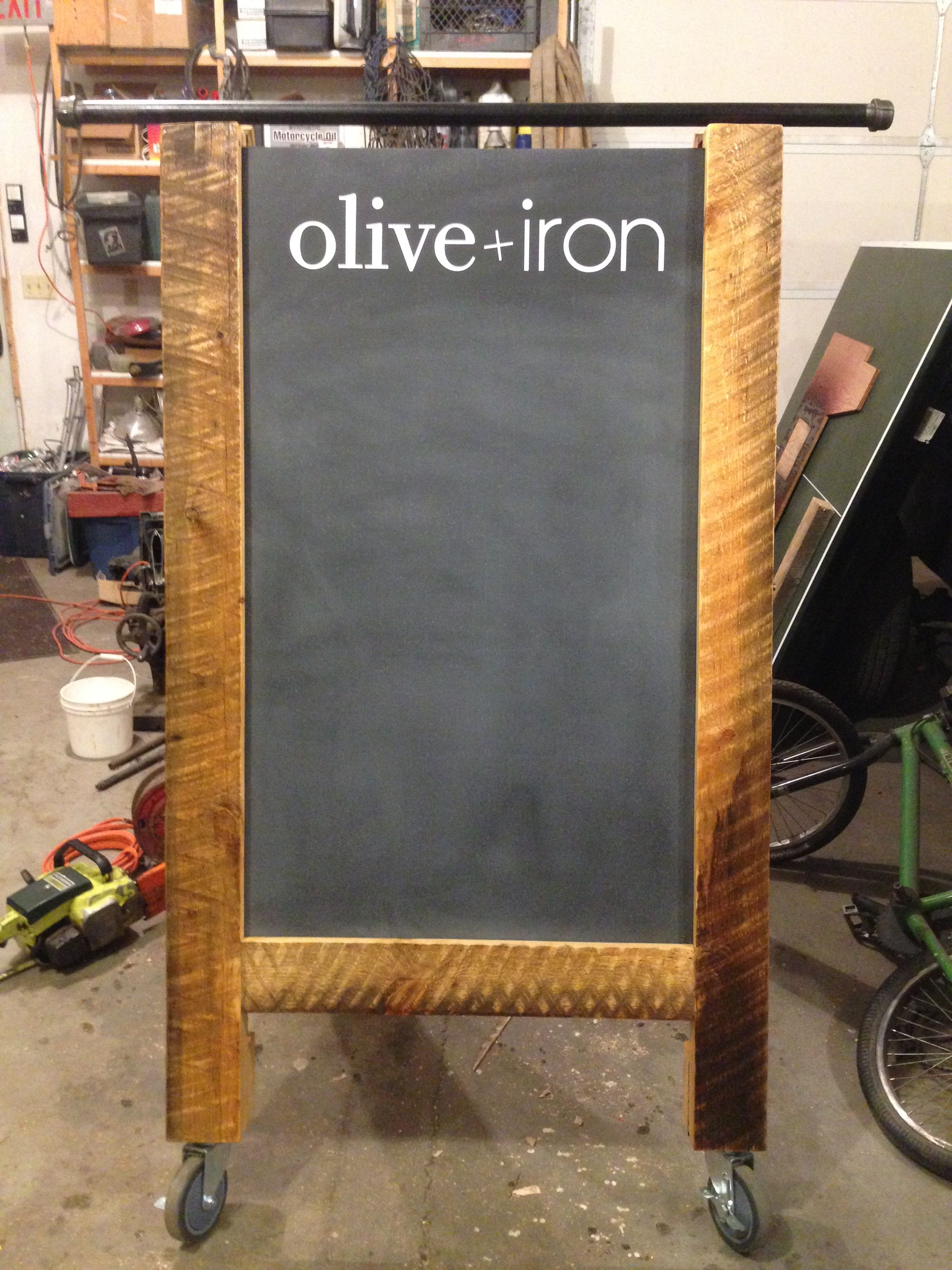 Sandwich Board Sidewalk Sign Iron And Wood Creations By