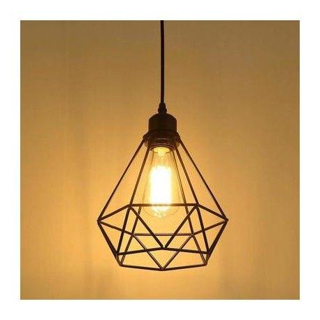 Suspension Industria Plafonnier Avce Socle E27 Eclairage Plafond Lampes Suspendues Industrielles Lampe Suspendue