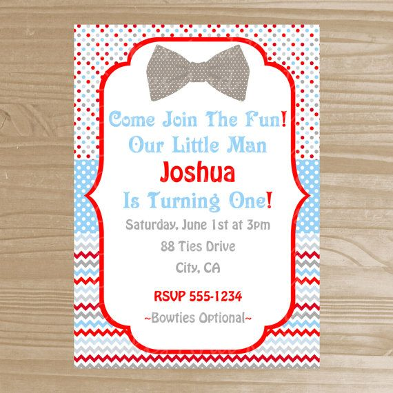 Bow tie birthday invitation little man printable invitation red bow tie birthday invitation little man printable invitation red grey and blue birthday invitation digital file party ideas pinterest blue filmwisefo