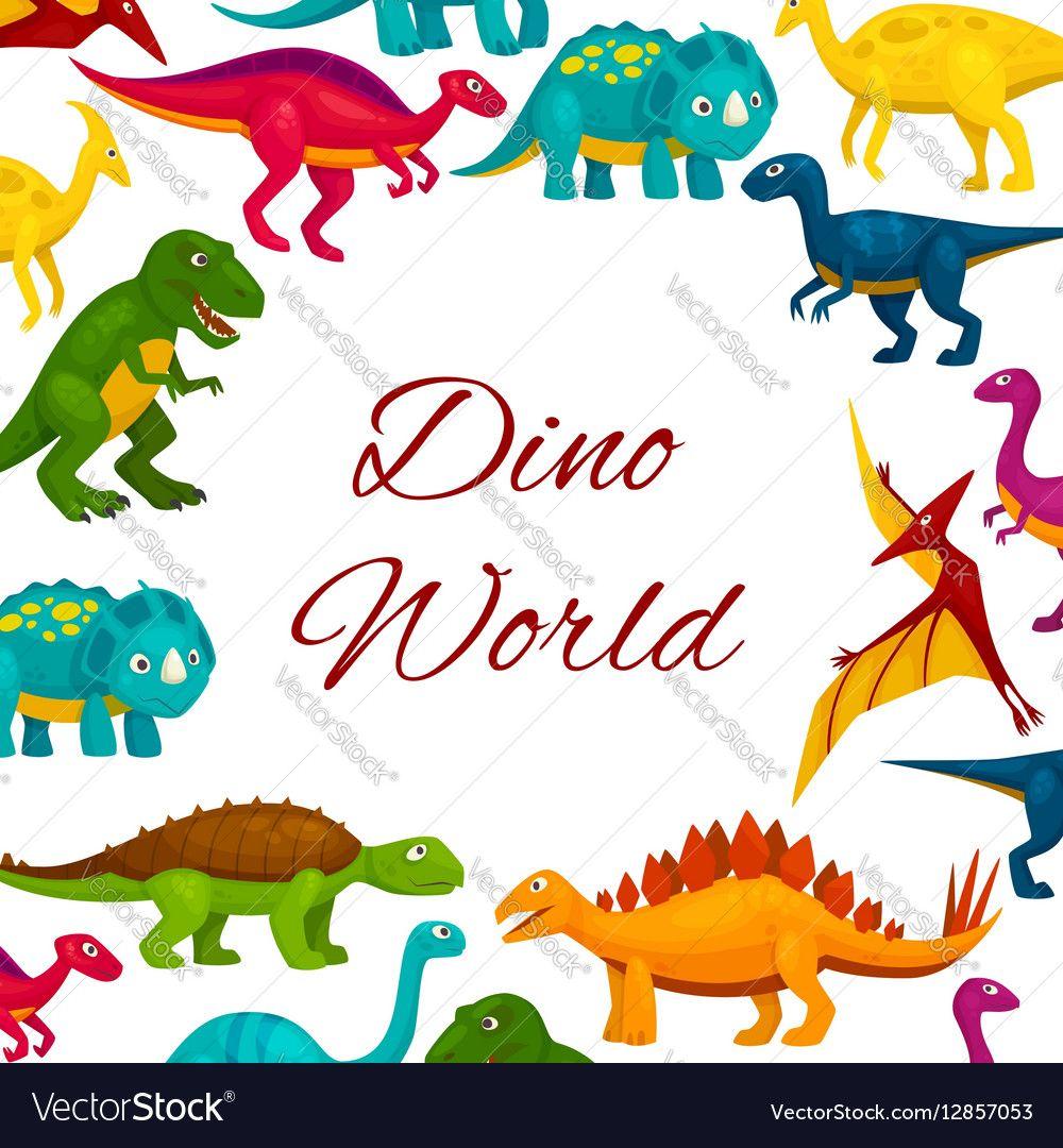 Jurassic Park Cartoon Dinosaurs Poster Royalty Free Vector Ad Cartoon Dinosaurs Jurassic Park Ad Vector Free Dinosaur Posters Royalty Free