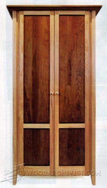 Cherry Armoire Plans   Furniture Plans And Projects   Woodwork,  Woodworking, Woodworking Plans, Woodworking Projects