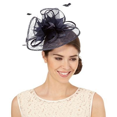 Debut Navy feather fascinator  7873a6d3839