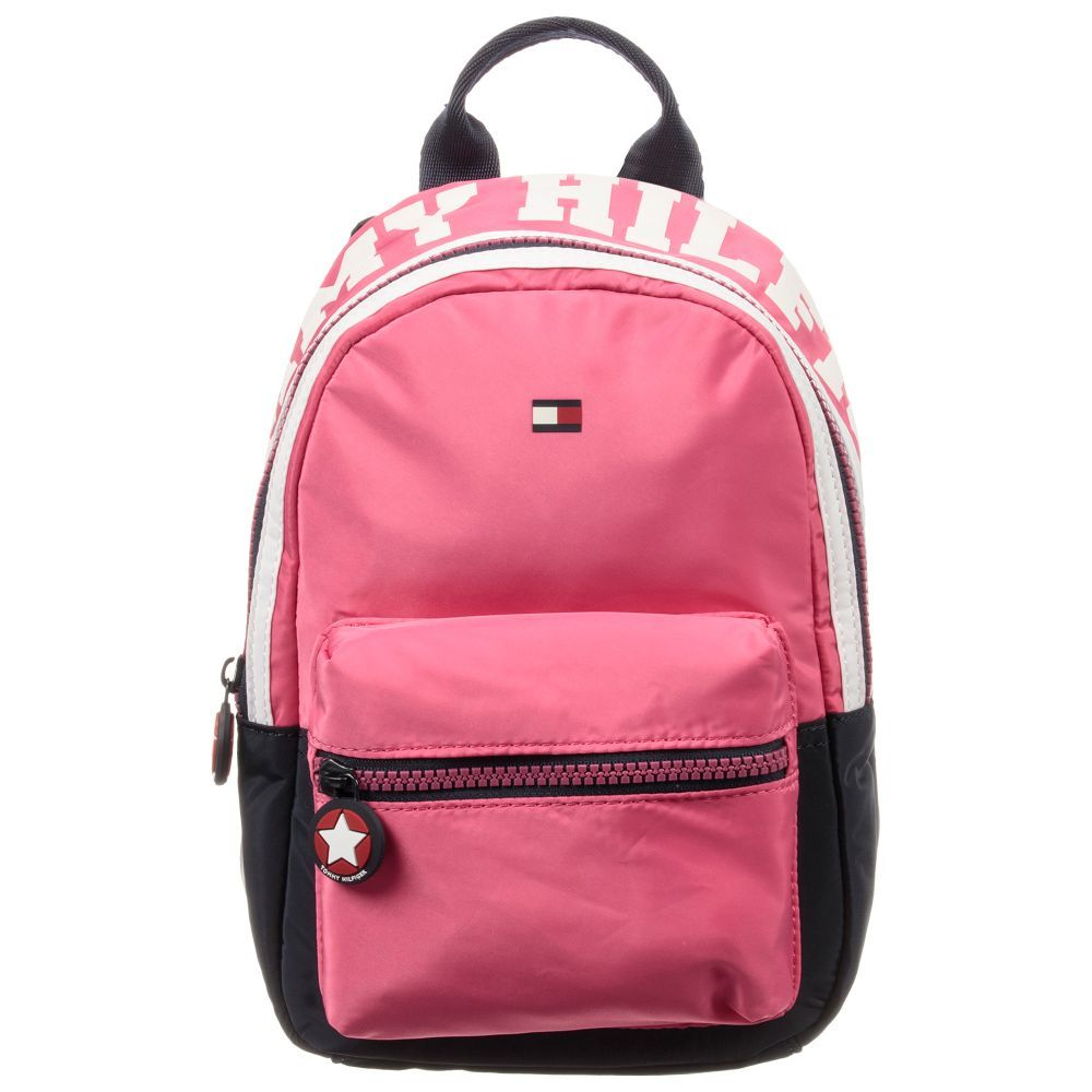 e9fa94ee95f2 Girls Small Pink Backpack for Girl by Tommy Hilfiger. Discover more  beautiful designer Bags for kids online
