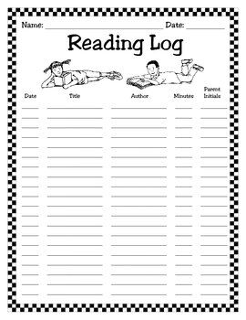 Monthly Reading Log With Images Reading Log Printable Monthly