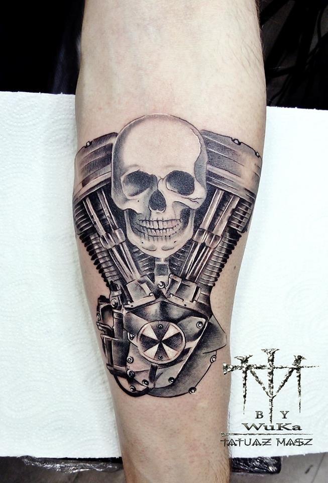Engine Harley Davidson Tattoo Tattoo Harleye Tatuaże