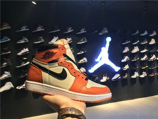 newest 8e2d5 6738d Nike Air Jordan 1 Retro High Og Shattered Backboard Away 555088 113 Sail  Black Starfish shoe