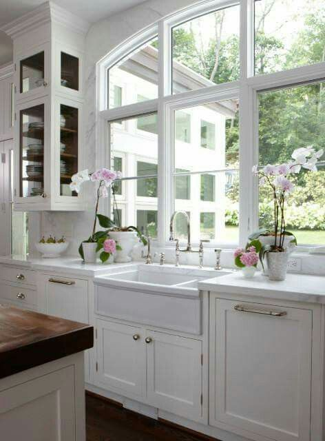 Love The Large Windows In Kitchen