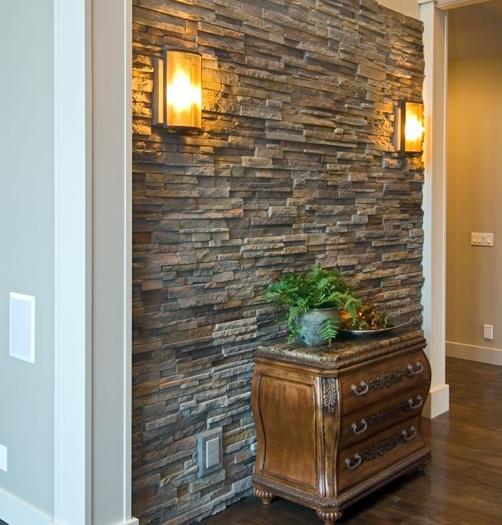 Accent Wall With Stone And Blue Brick: 20+ Accent Wall Ideas You'll Surely Wish To Try This At