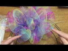 Photo of Wonderful Wreaths: How To Make A Poof/Pouf Style Wreath With Dollar Tree Mesh