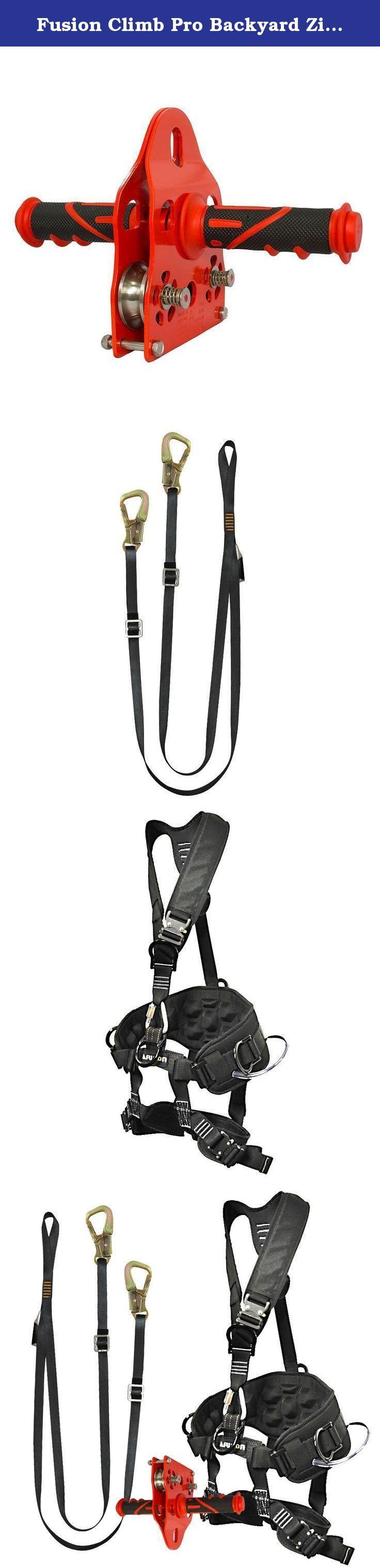 fusion climb pro backyard zip line kit fk a hlt 41 harness lanyard