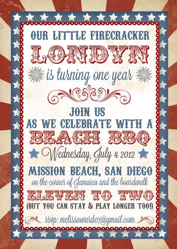4th Of July Birthday Invitation On Etsy 225
