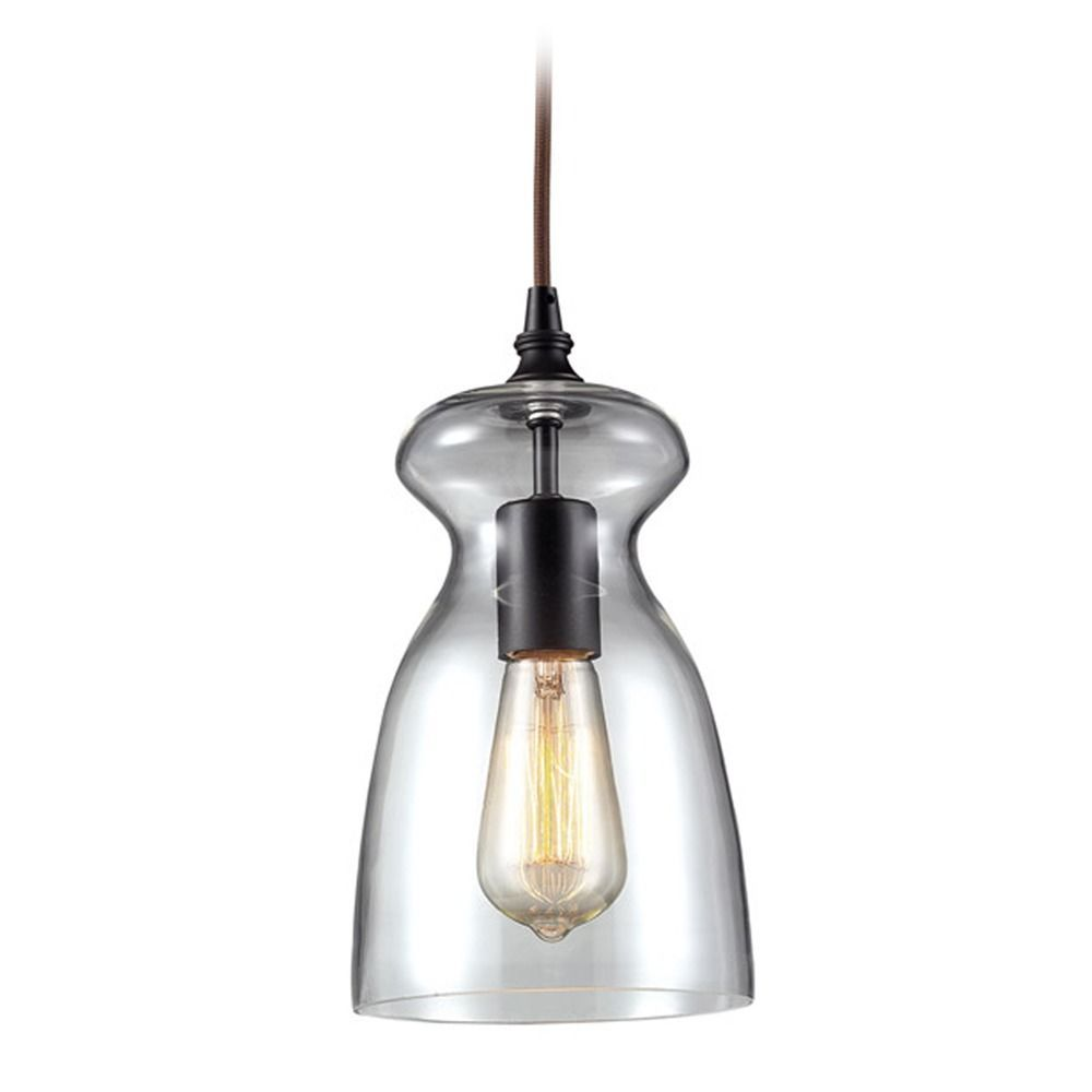 contemporary mini pendant lighting. Elk Lighting Modern Mini-Pendant Light With Clear Glass 60043-1 Contemporary Mini Pendant D