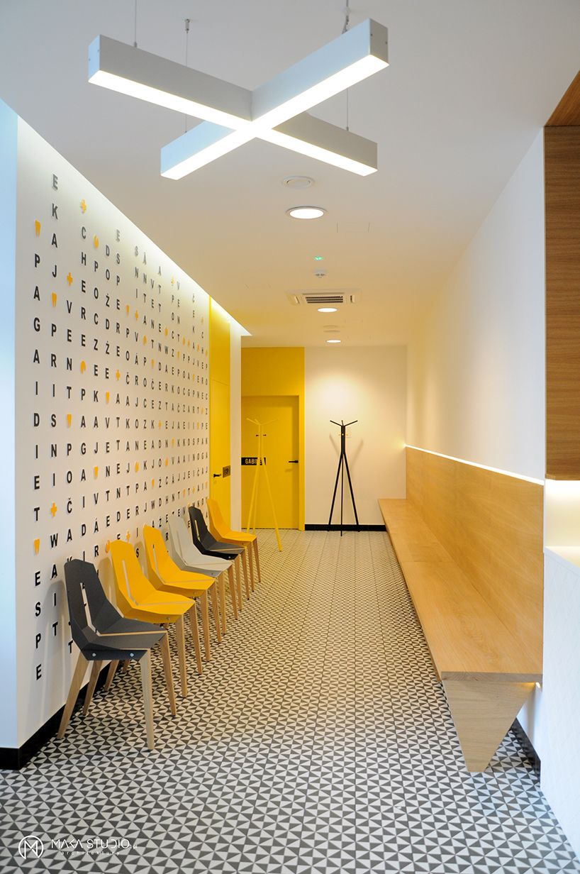 Hospital Room Interior Design: I LIKE THE PLAYFULNESS OF THE LETTERS BEHIND THE SEATING
