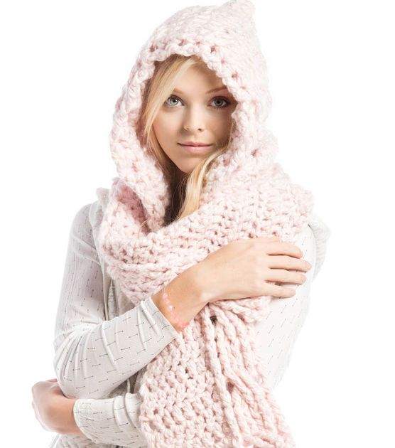 How To Crochet A Hooded Scarf Free Pattern At Joanns Crochet