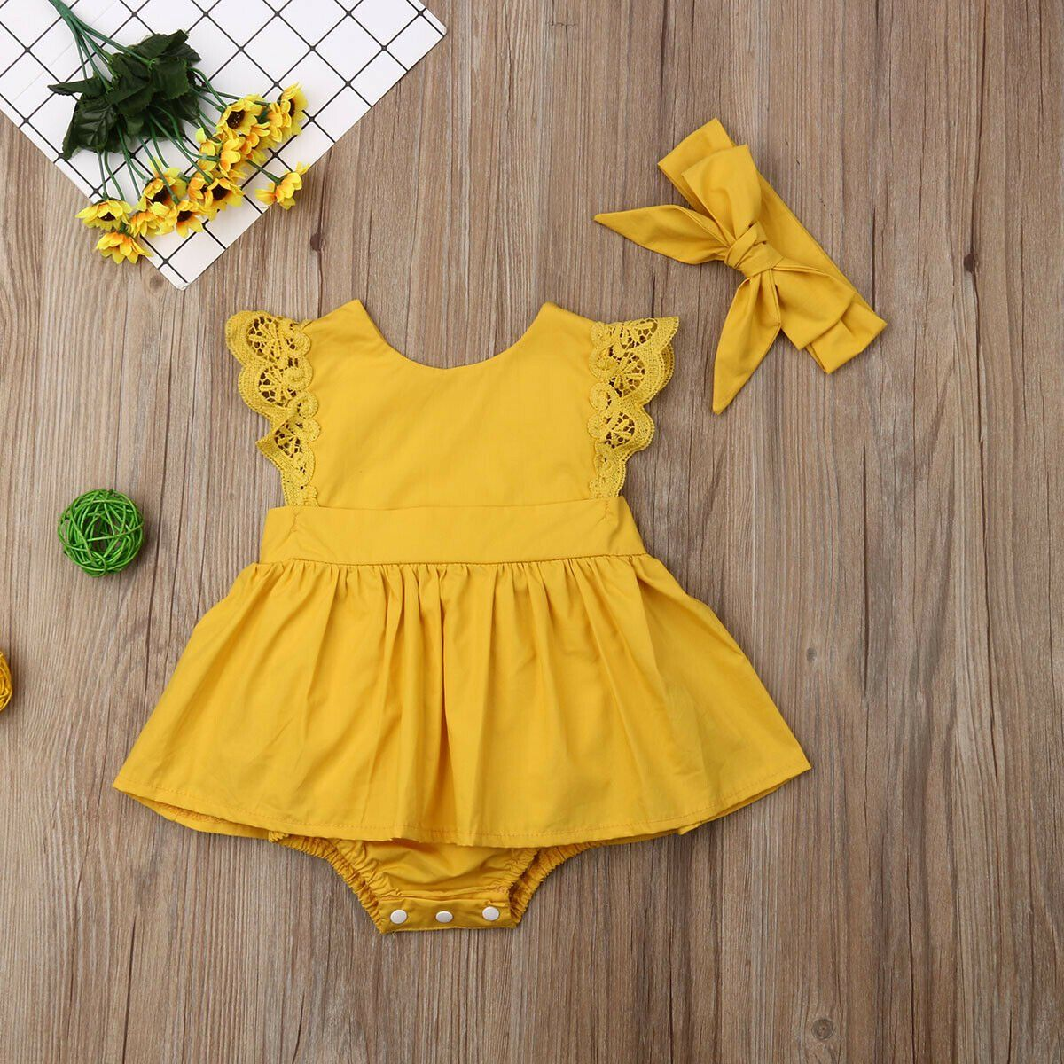 Calsunbaby Newborn Kid Baby Girls Lace Clothes Dress Romper Jumpsuit Bodysuit Headband Outfit Set Walmart Com In 2021 Baby Girl Yellow Dress Outfit Set Girls Summer Outfits [ 1200 x 1200 Pixel ]