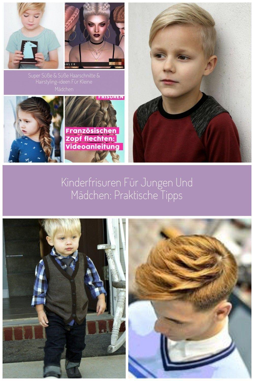 Kinder Haarschnitt Mädchen kurze Elfe Mädchen Frisuren Kinder