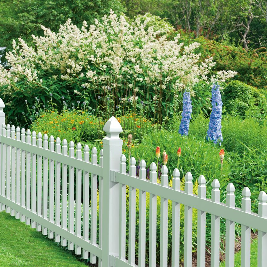 Gatehouse Arborley 3 Ft X 8 White Gothic Picket Vinyl Fence Panel Lowe S 44 97