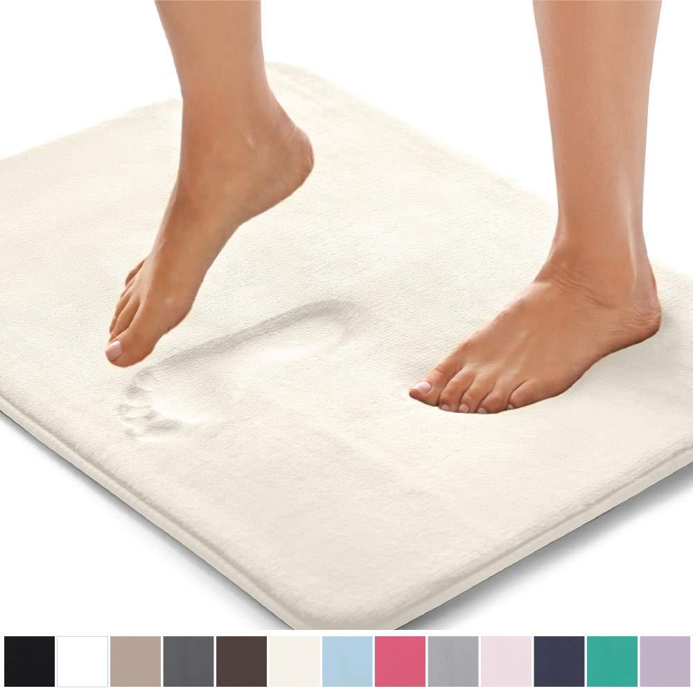 Amazon Com Gorilla Grip Original Thick Memory Foam Bath Rug 30x20 Cushioned Soft Floor Mats Absorbent Memory Foam Bath Rugs Soft Floor Mat Plush Bath Rugs [ 1000 x 1000 Pixel ]